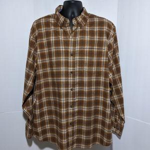 Blue Mountain Men's Oxford Plaid Shirt XL